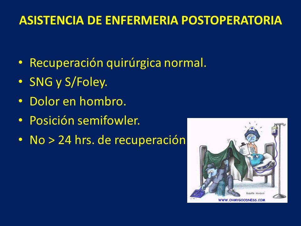 ASISTENCIA DE ENFERMERIA POSTOPERATORIA