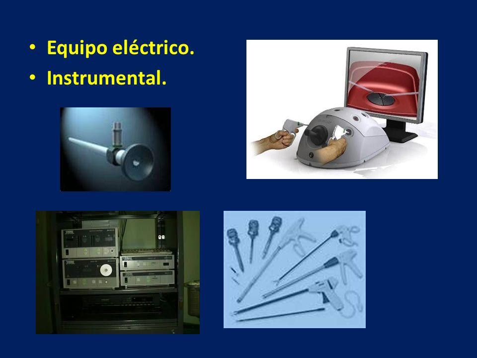 Equipo eléctrico. Instrumental.