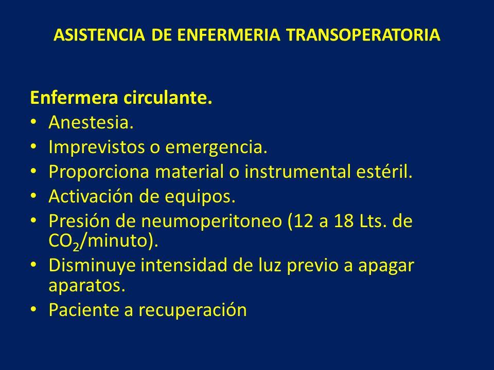ASISTENCIA DE ENFERMERIA TRANSOPERATORIA