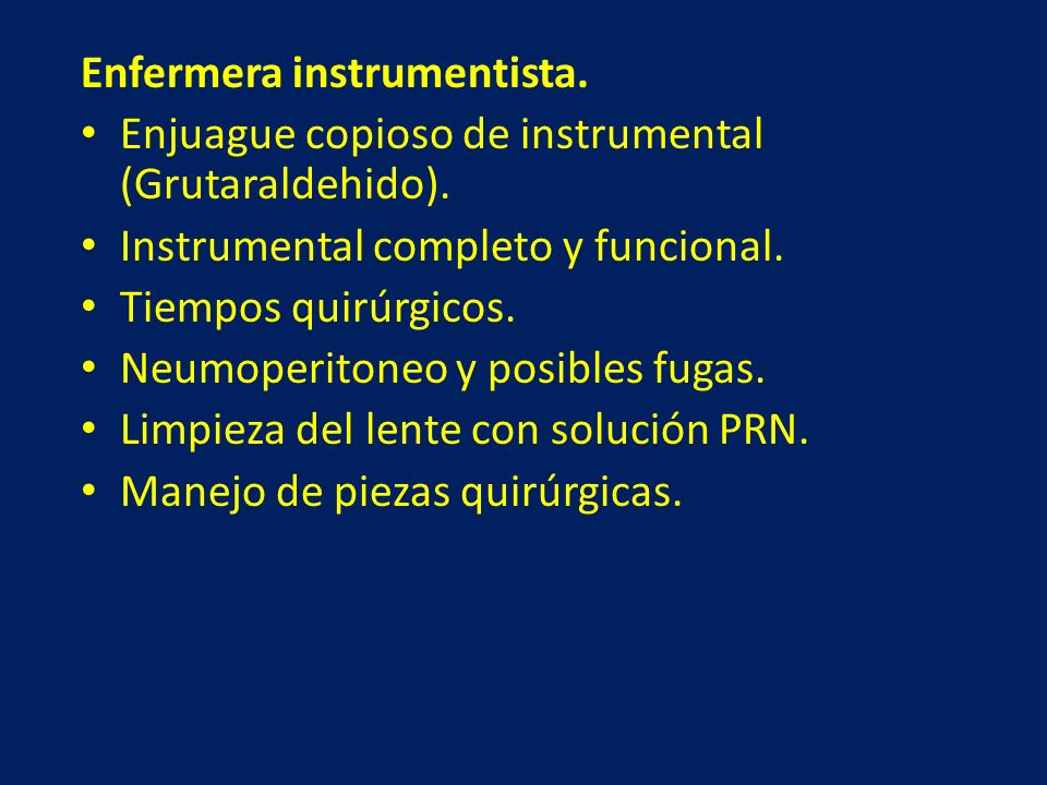 Enfermera instrumentista.