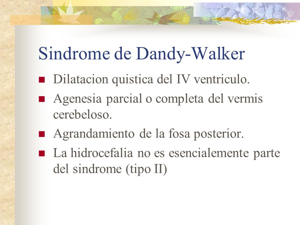 Sindrome de Dandy-Walker