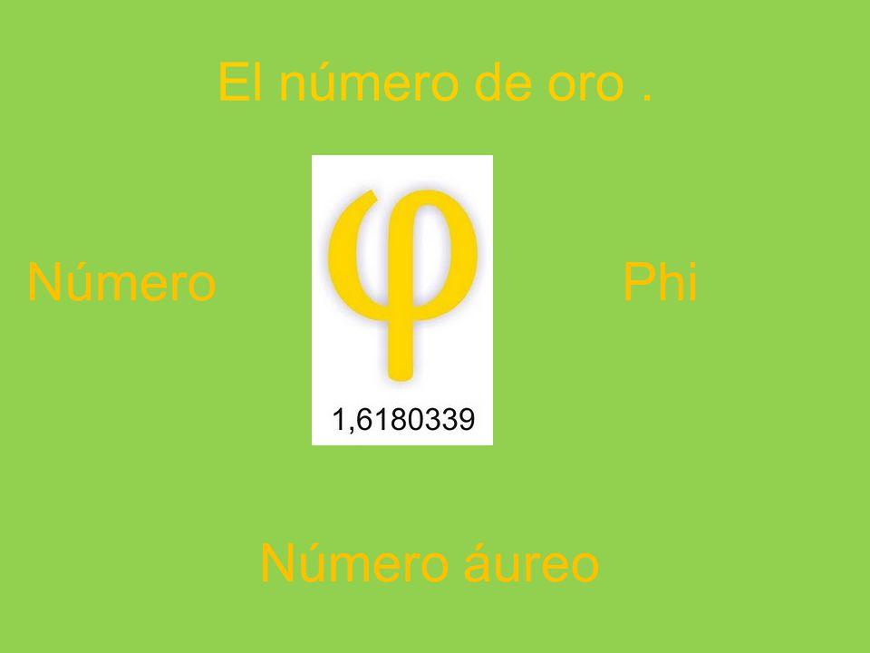 El número de oro . Número Phi Número áureo