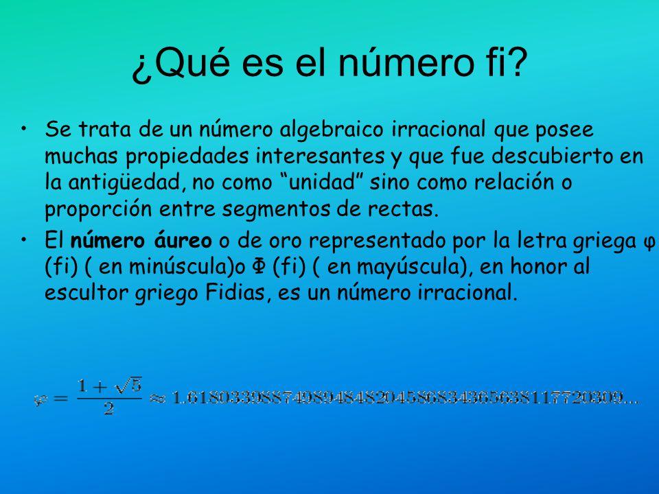 ¿Qué es el número fi