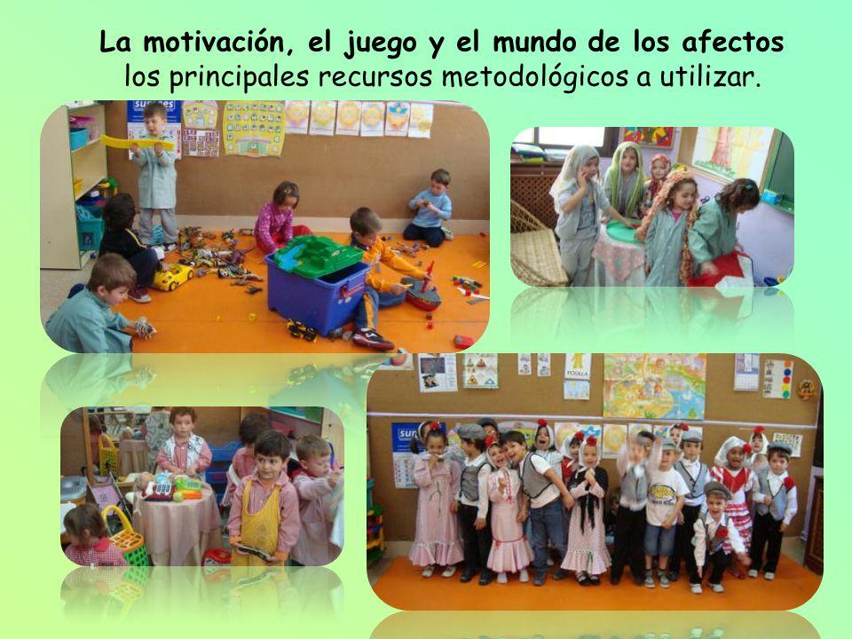 La motivación, el juego y el mundo de los afectos los principales recursos metodológicos a utilizar.