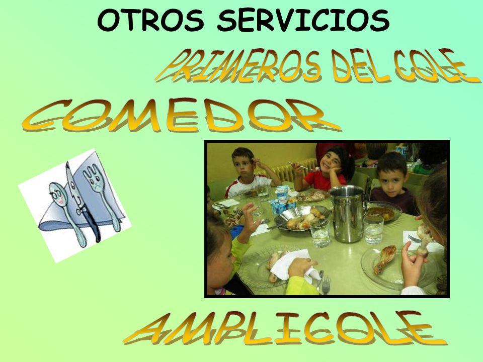 OTROS SERVICIOS PRIMEROS DEL COLE COMEDOR AMPLICOLE