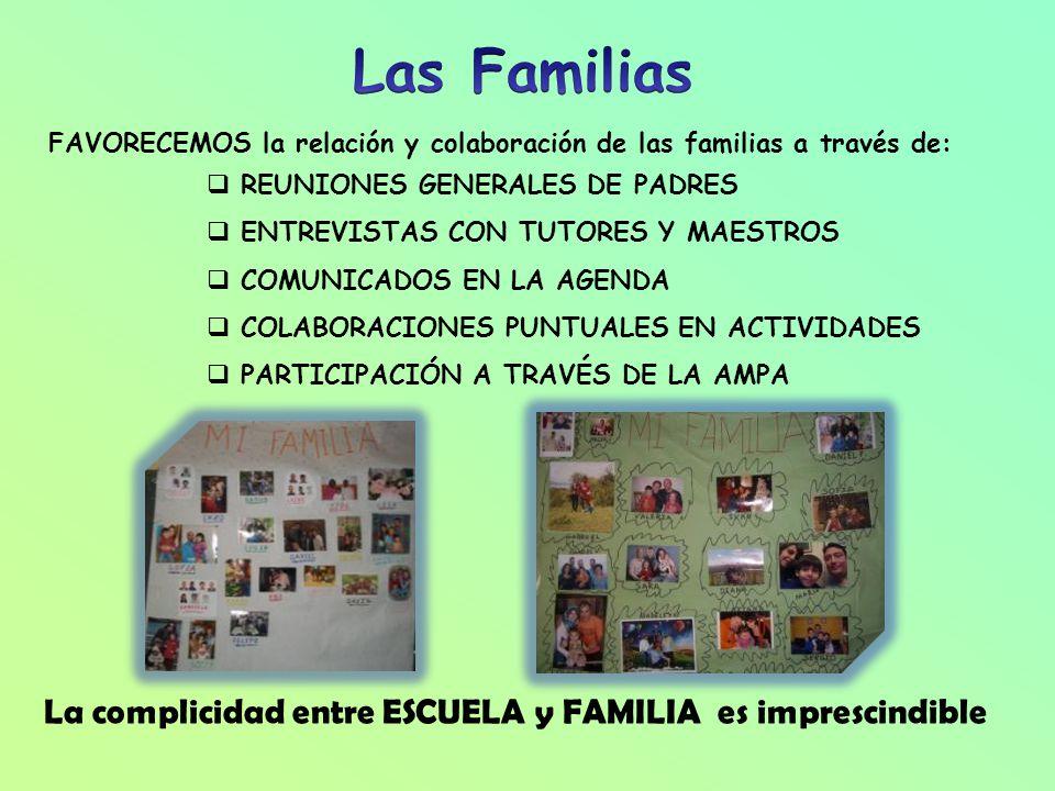 Las Familias La complicidad entre ESCUELA y FAMILIA es imprescindible