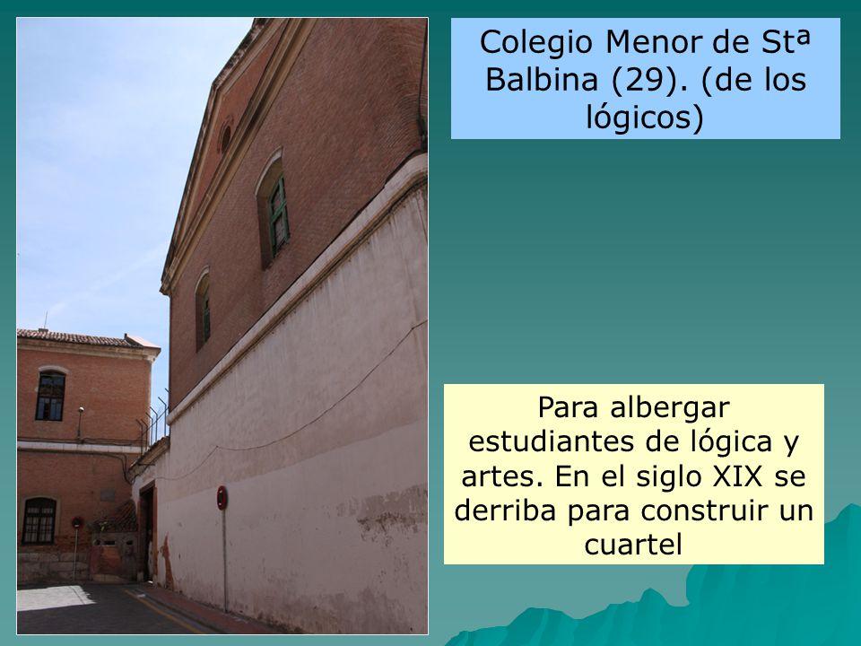 Colegio Menor de Stª Balbina (29). (de los lógicos)