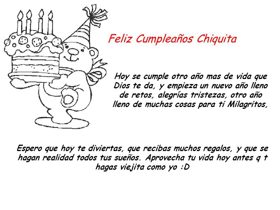 Feliz Cumpleaños Chiquita