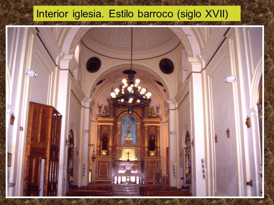 Interior iglesia. Estilo barroco (siglo XVII)