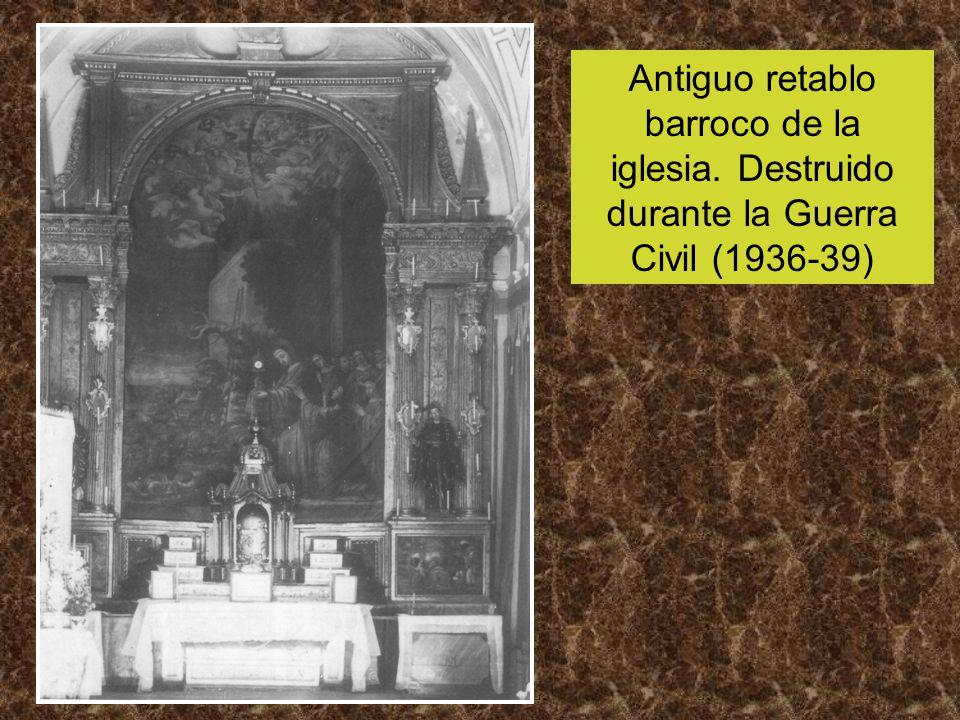 Antiguo retablo barroco de la iglesia