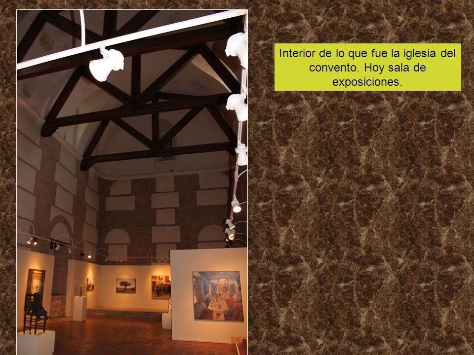 Interior de lo que fue la iglesia del convento