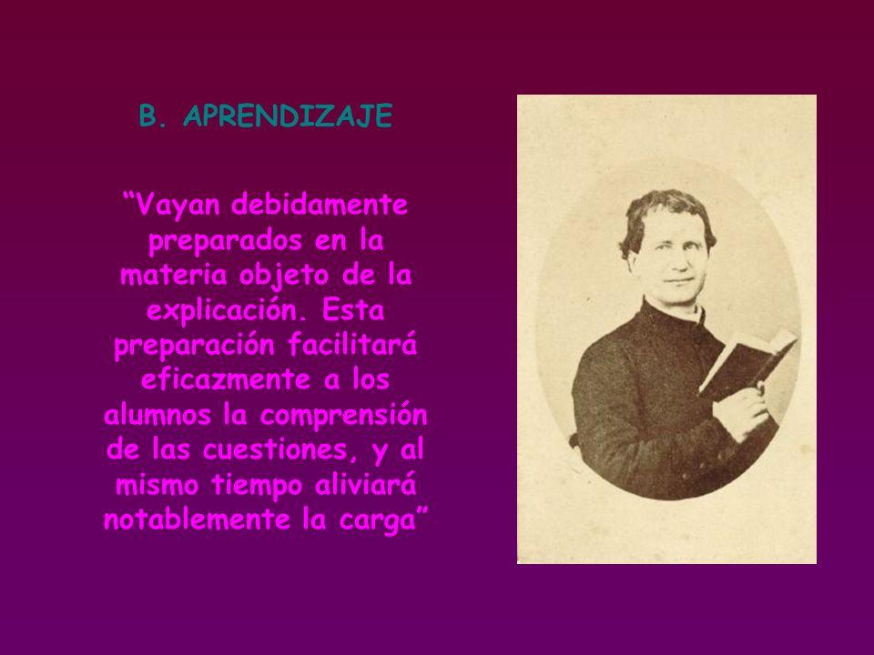 B. APRENDIZAJE