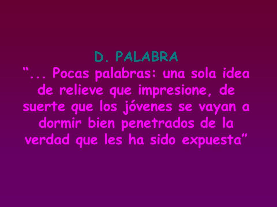 D. PALABRA ...