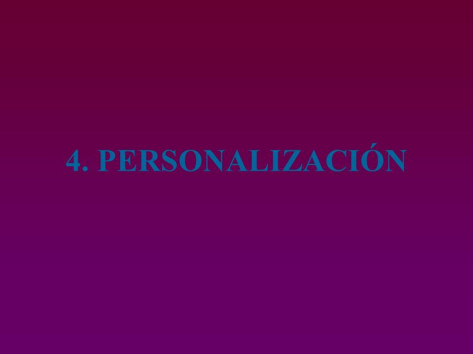 4. PERSONALIZACIÓN