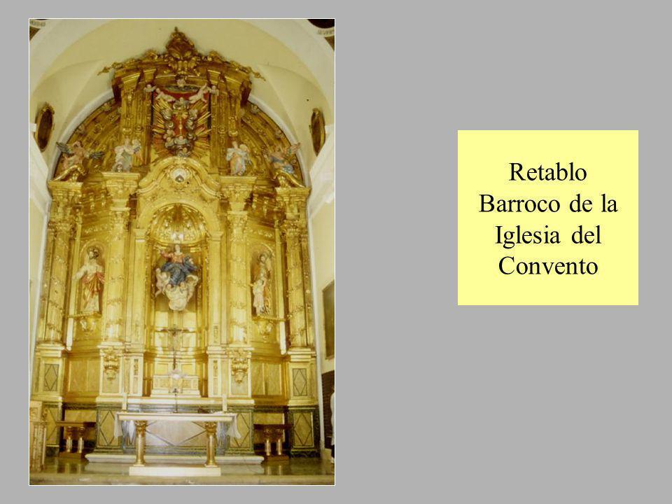 Retablo Barroco de la Iglesia del Convento