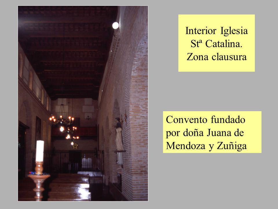 Interior Iglesia Stª Catalina. Zona clausura