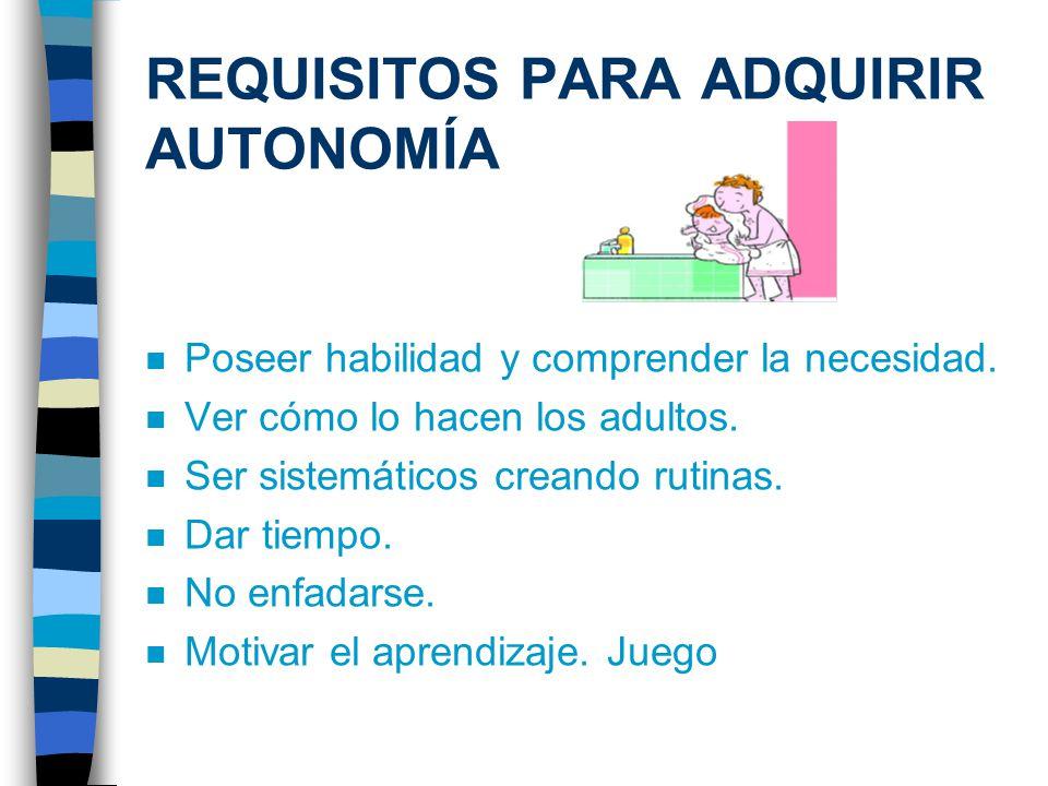 REQUISITOS PARA ADQUIRIR AUTONOMÍA