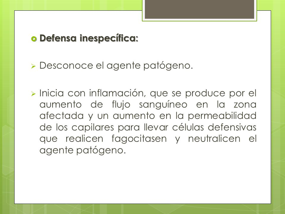 Defensa inespecífica: