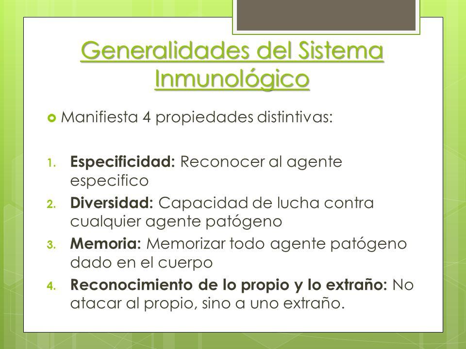 Generalidades del Sistema Inmunológico