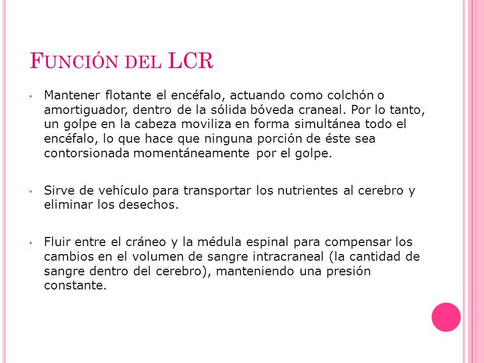 Función del LCR