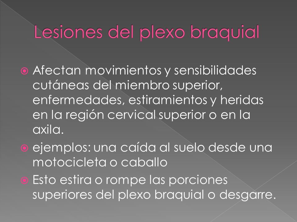 Lesiones del plexo braquial