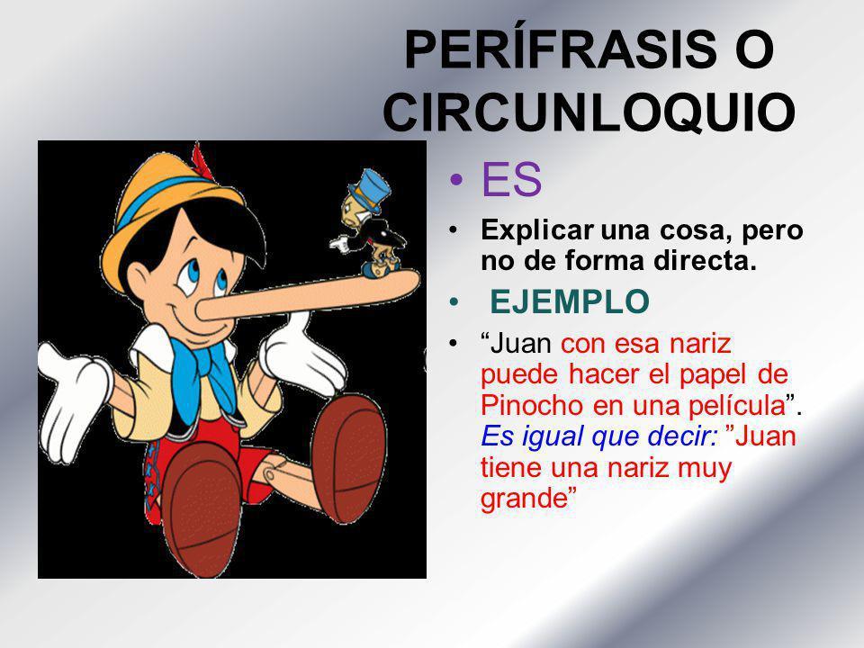 PERÍFRASIS O CIRCUNLOQUIO