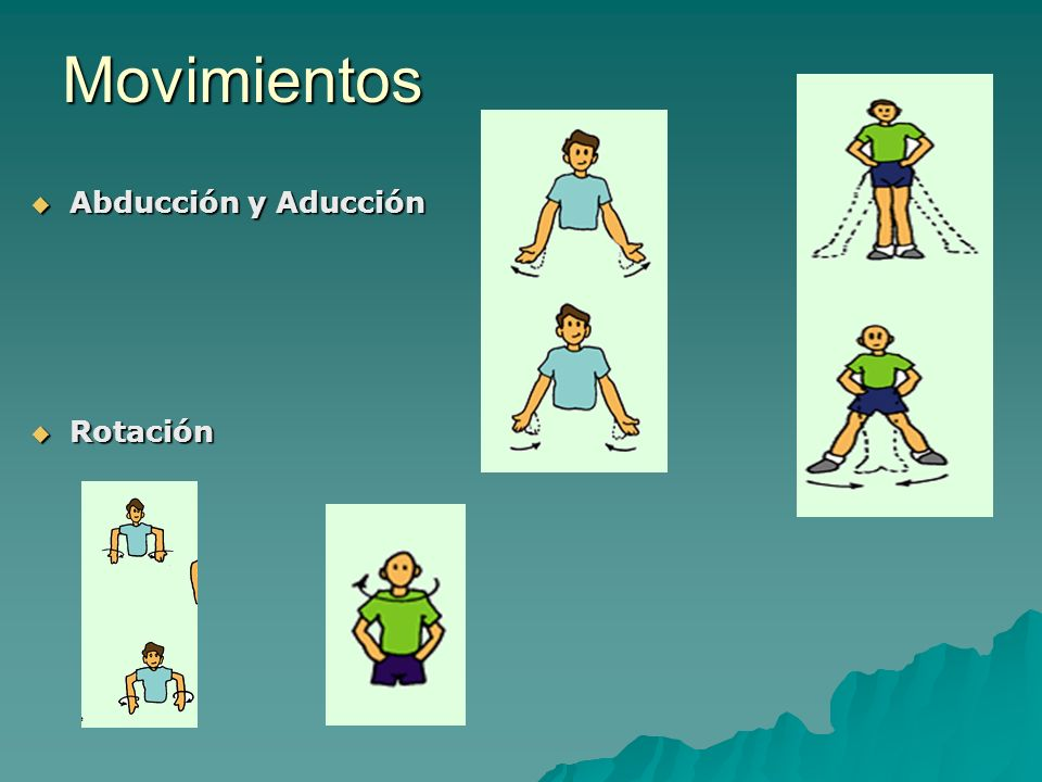Movimientos Abducción y Aducción Rotación
