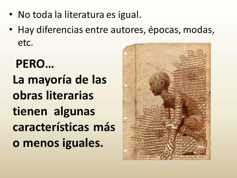 No toda la literatura es igual.