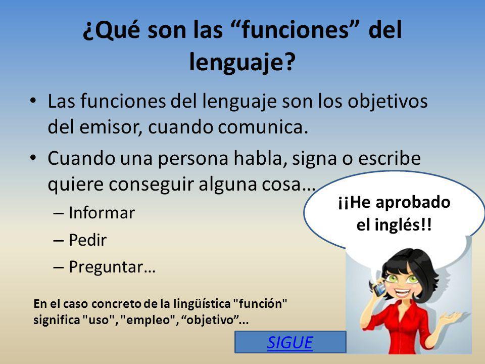 ¿Qué son las funciones del lenguaje