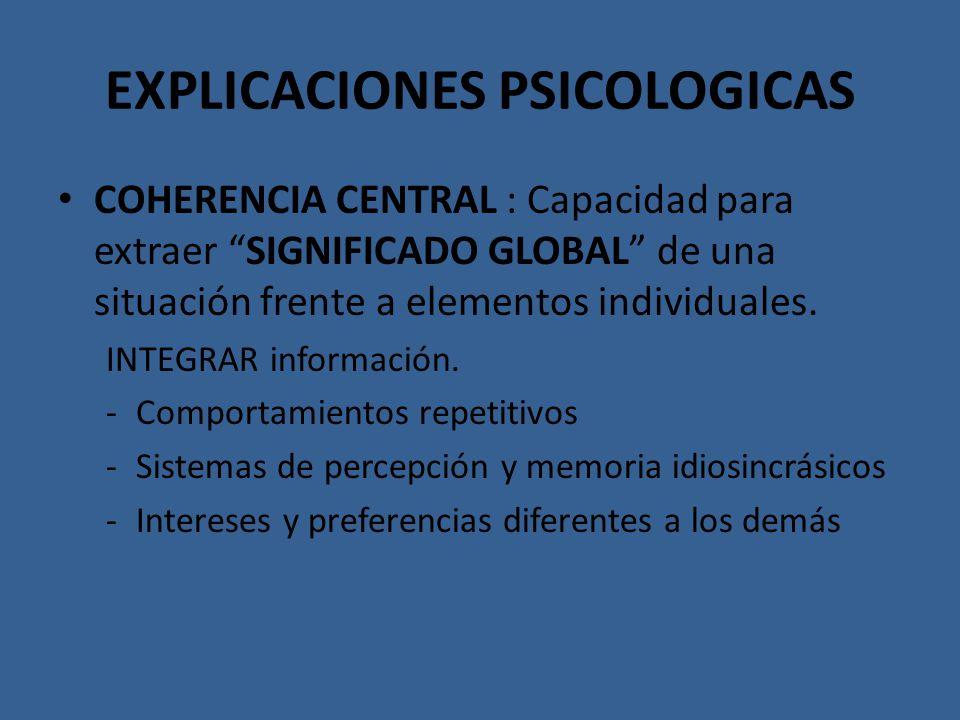 EXPLICACIONES PSICOLOGICAS
