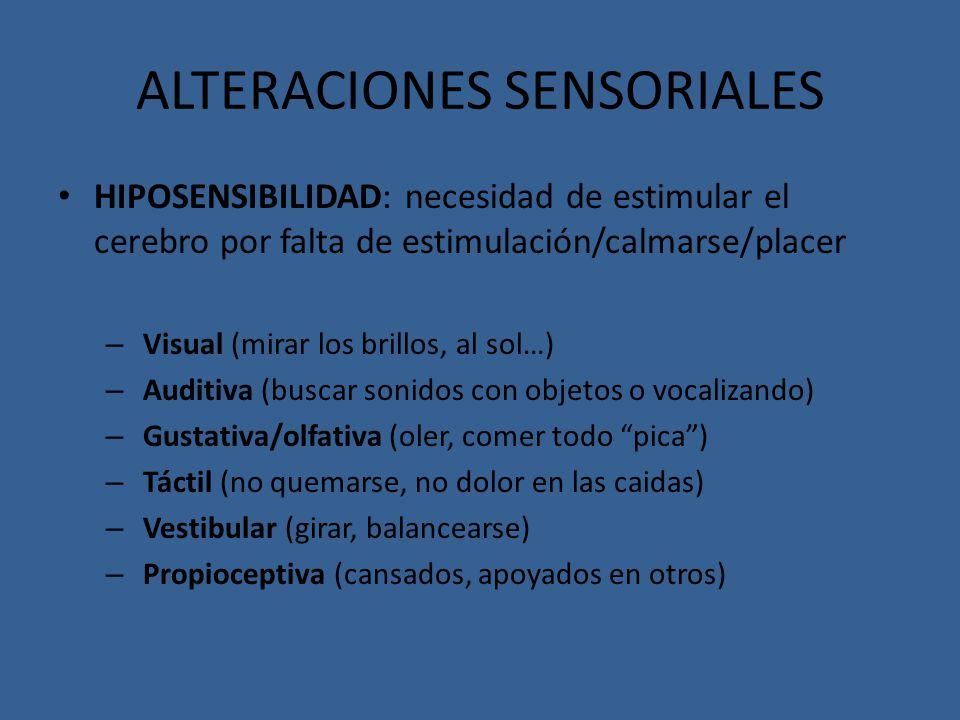 ALTERACIONES SENSORIALES