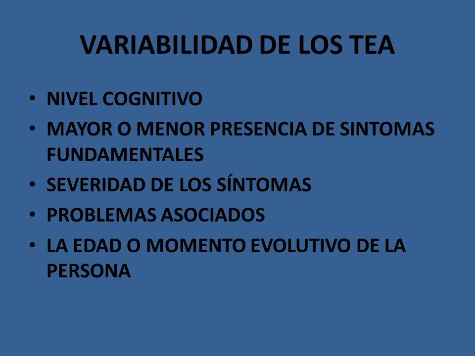 VARIABILIDAD DE LOS TEA