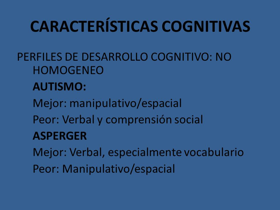 CARACTERÍSTICAS COGNITIVAS