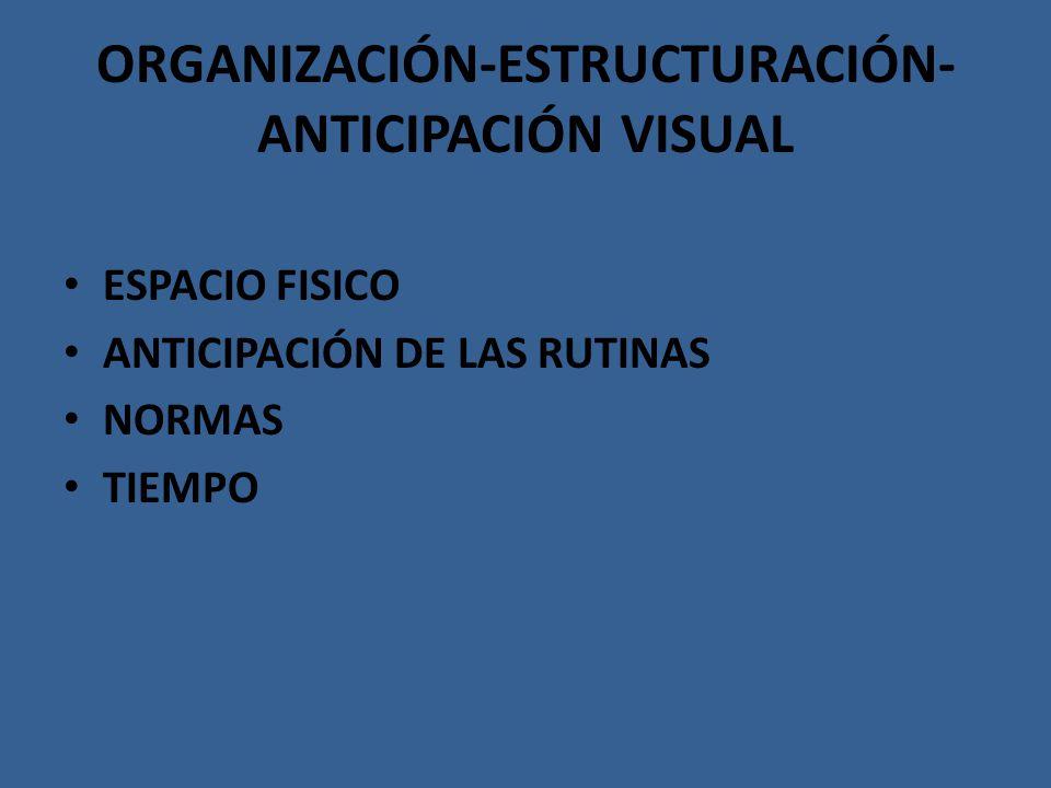 ORGANIZACIÓN-ESTRUCTURACIÓN-ANTICIPACIÓN VISUAL