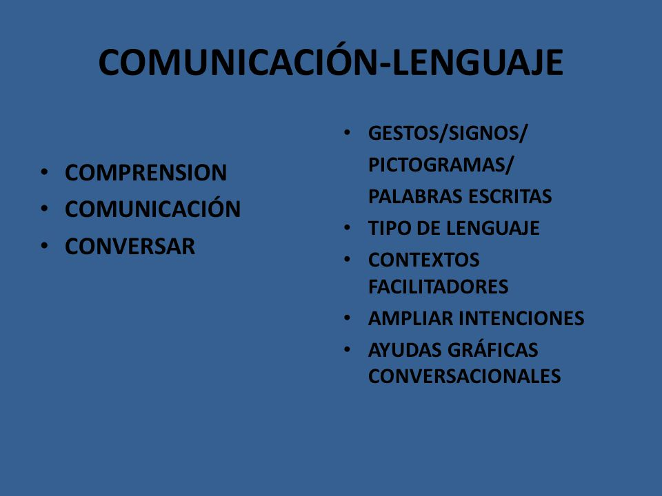 COMUNICACIÓN-LENGUAJE