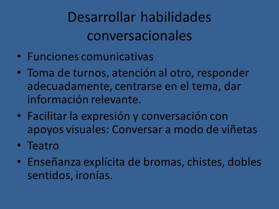 Desarrollar habilidades conversacionales
