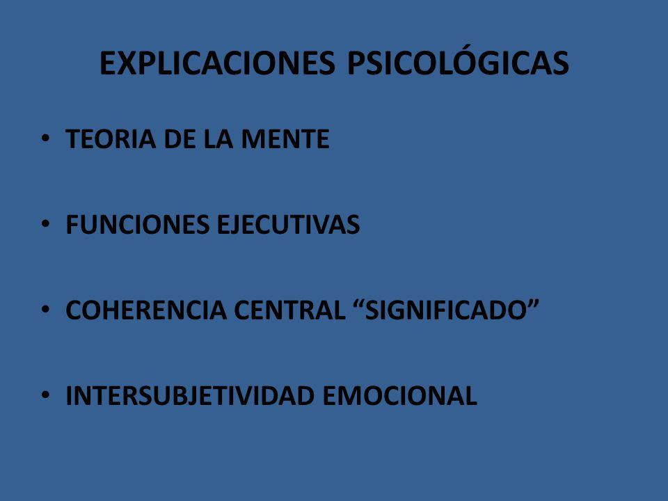 EXPLICACIONES PSICOLÓGICAS