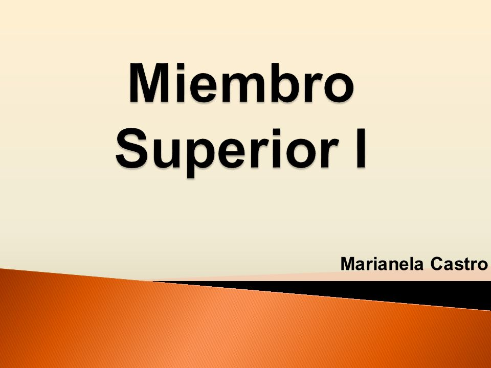 Miembro Superior I Marianela Castro