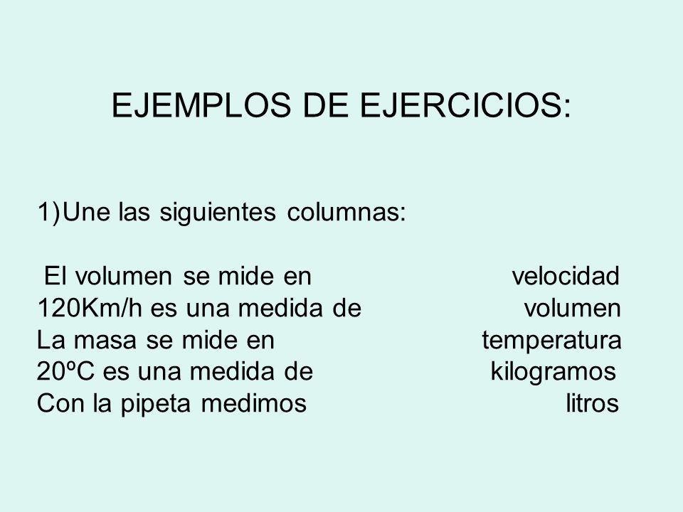 EJEMPLOS DE EJERCICIOS: