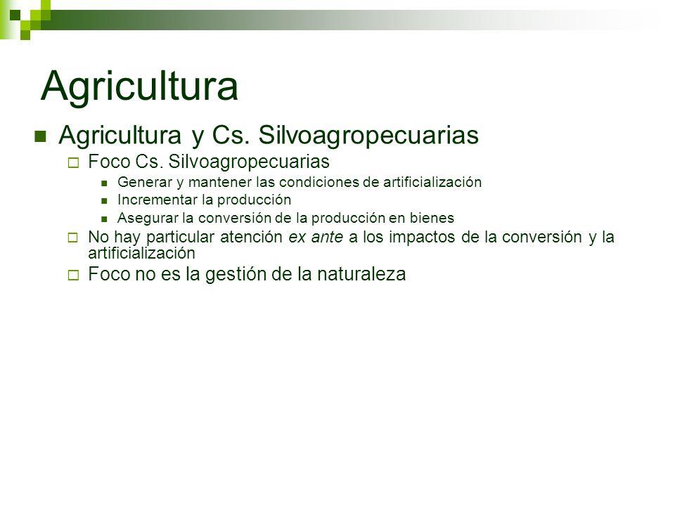 Agricultura Agricultura y Cs. Silvoagropecuarias