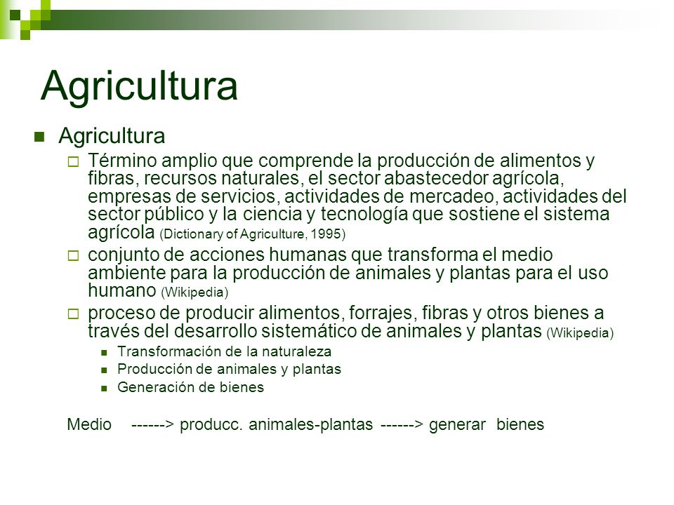 Agricultura Agricultura