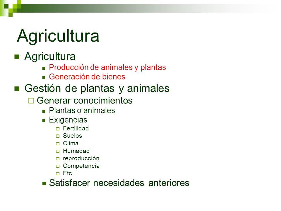 Agricultura Agricultura Gestión de plantas y animales