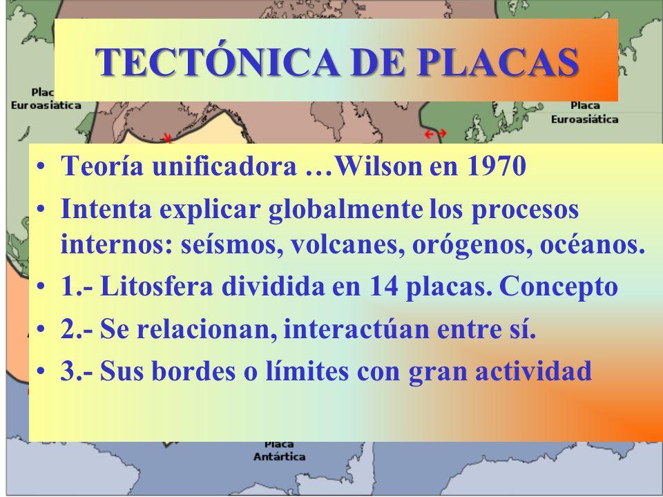 TECTÓNICA DE PLACAS Teoría unificadora …Wilson en 1970