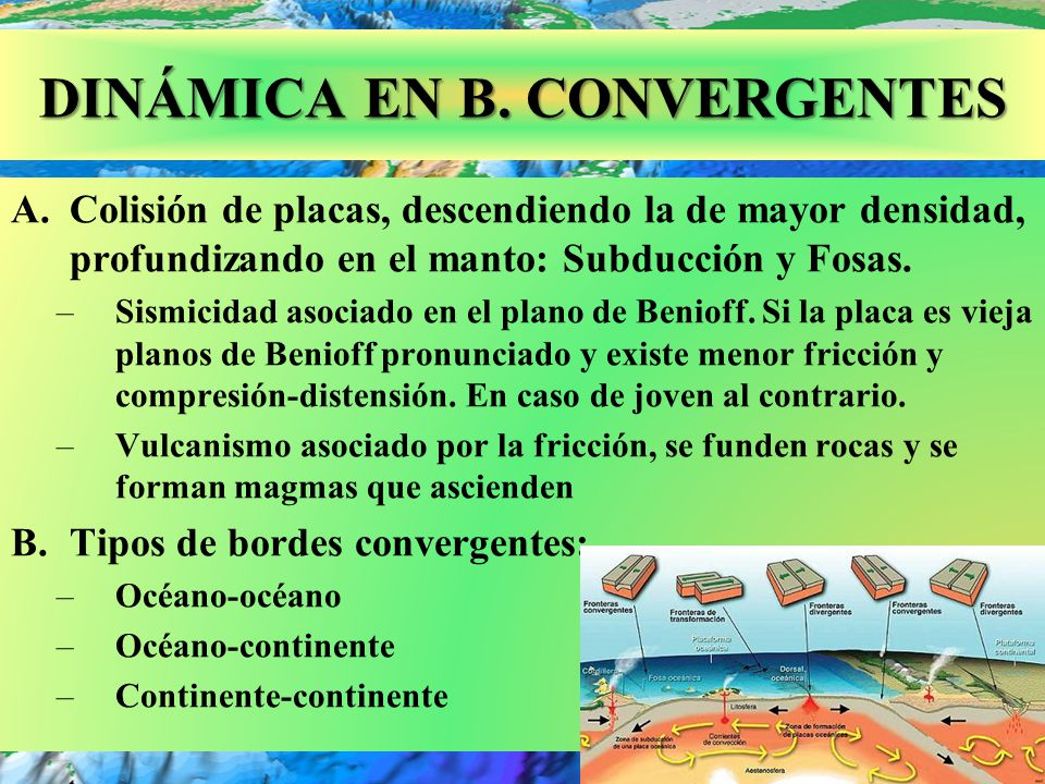 DINÁMICA EN B. CONVERGENTES
