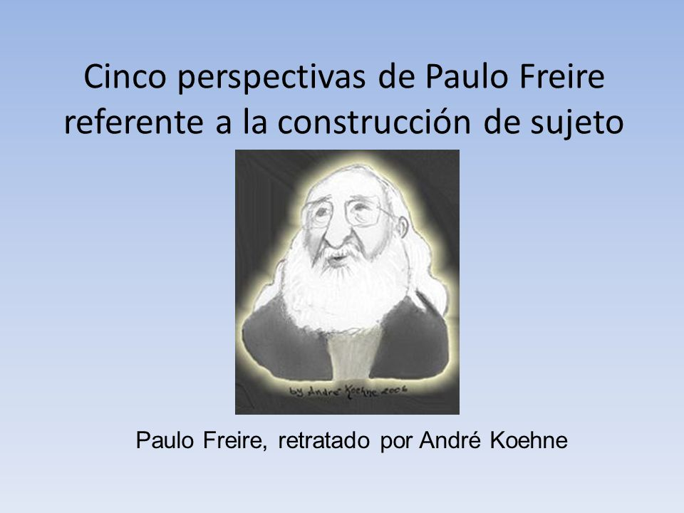 Paulo Freire, retratado por André Koehne