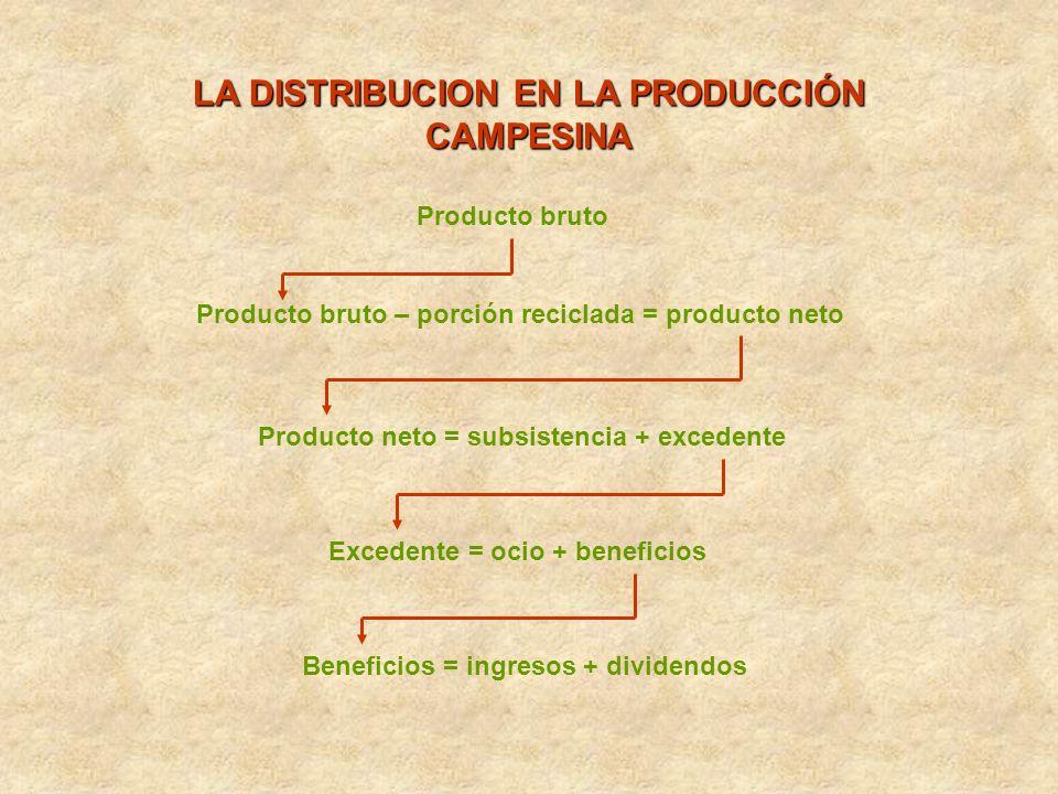 LA DISTRIBUCION EN LA PRODUCCIÓN CAMPESINA