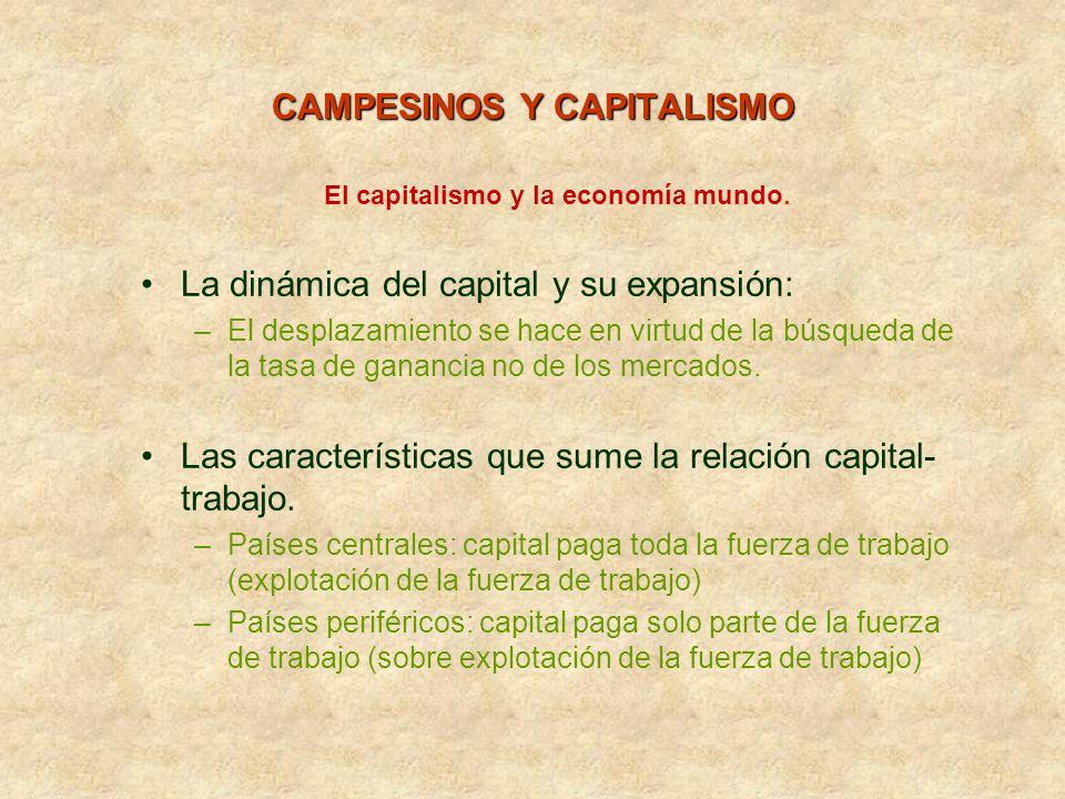 CAMPESINOS Y CAPITALISMO