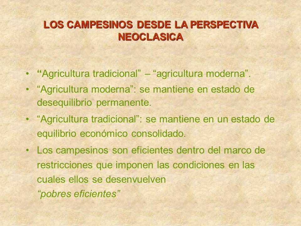 LOS CAMPESINOS DESDE LA PERSPECTIVA NEOCLASICA