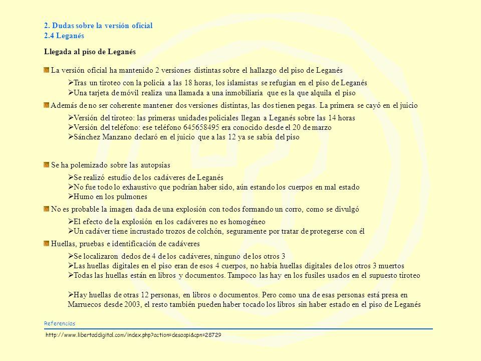 2. Dudas sobre la versión oficial 2.4 Leganés