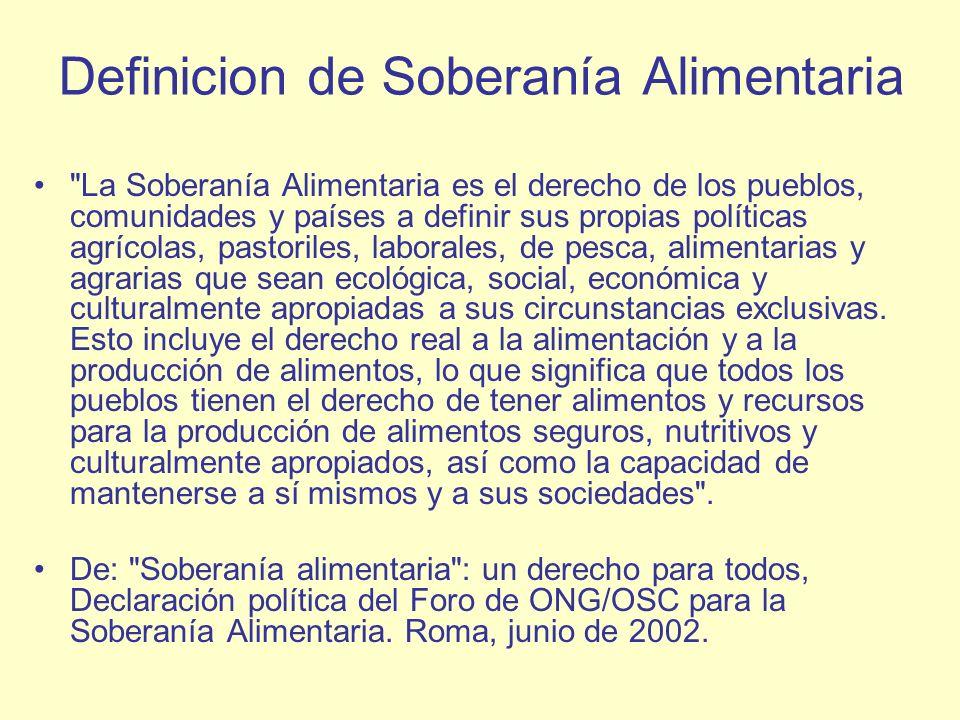 Definicion de Soberanía Alimentaria
